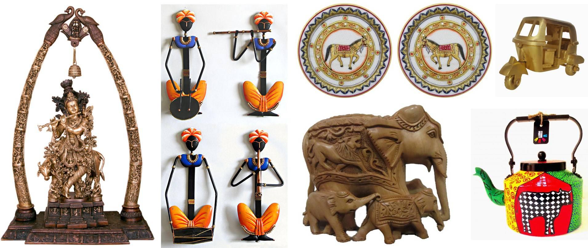 Indian Handicrafts, Metal artworks