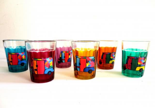 Artzolo-Painted Chai Glasses