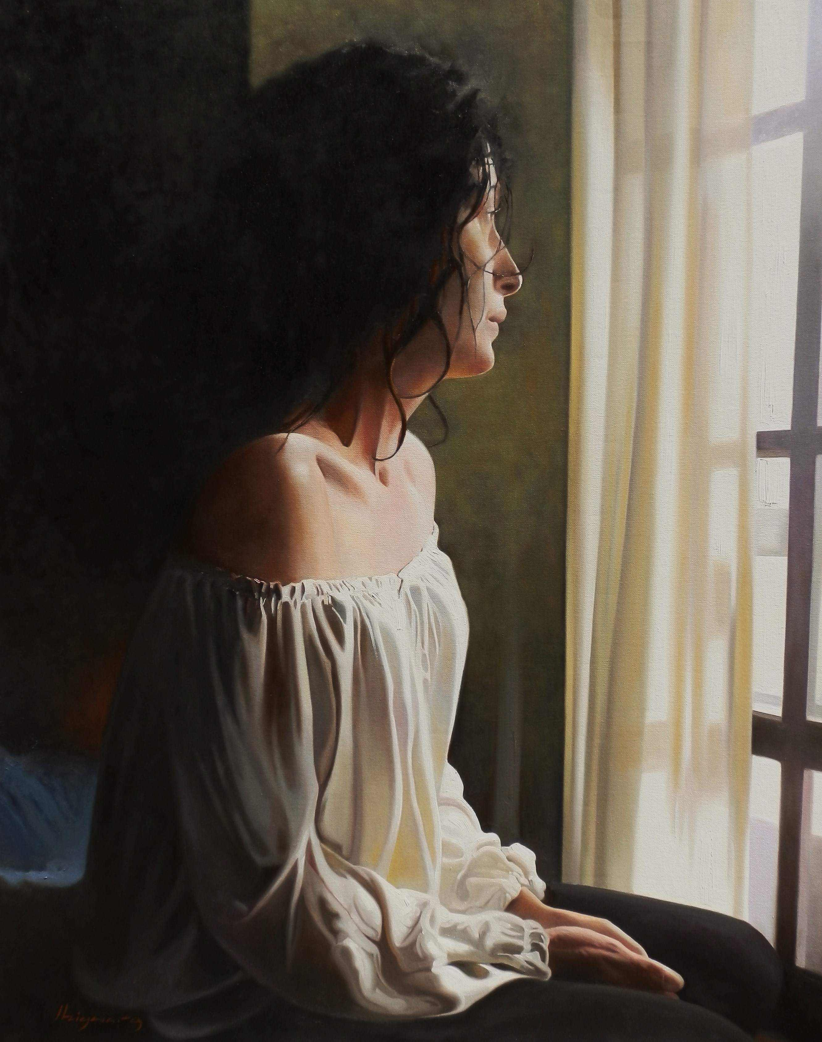 Jose Higuera | Oil Painting title Nostalgia on Canvas | Artist Jose Higuera Gallery | ArtZolo.com