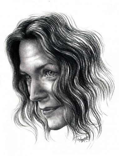 Portrait of Michelle Pfeiffer by Pranab Das | Artzolo.com