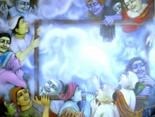 The dream | Painting by artist Apet Pramod | acrylic | Canvas