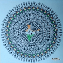 Independence day artwork - India Mandala by Pugalenthi| Artzolo.com