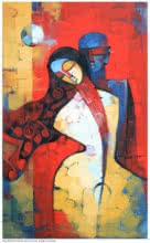 Figurative Acrylic Art Painting title Eternal Love by artist Deepa Vedpathak