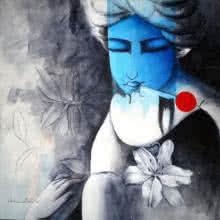 Eternal Love | Painting by artist Kamal Nath | acrylic | Canvas