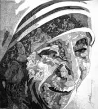 Mother Teresa | Drawing by artist Amit Bhar | | Pen&Ink | Paper