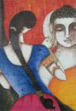Kappari Kishan | Acrylic Painting title Rhythm Divine on Canvas | Artist Kappari Kishan Gallery | ArtZolo.com