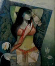 Morning | Painting by artist Arun Samadder | oil | Canvas