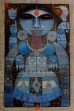 Goddess Kali | Painting by artist Arun Samadder | mixed-media | Canvas