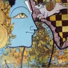 Krishna 1 | Painting by artist Ramesh Gorjala | acrylic | Canvas