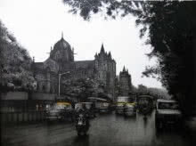 Mumbai VT | Drawing by artist Yuvraj Patil |  | charcoal | Canvas