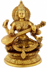 VS Craft | Saraswati Brass Idol Craft Craft by artist VS Craft | Indian Handicraft | ArtZolo.com
