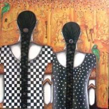 Figurative Acrylic Art Painting title 'Untitled' by artist Kappari Kishan