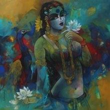 Woman | Painting by artist Rajeshwar Nyalapalli | acrylic | Canvas