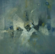 Abstract Oil Art Painting title 'Untitled 7' by artist Manoj Kajbale