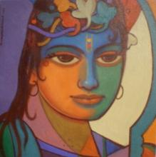 Religious Acrylic Art Painting title 'Ram' by artist Avinash Deshmukh
