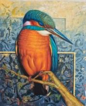 Animals Oil Art Painting title The Beautiful World by artist Pradeep Kumar