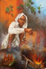 Figurative Acrylic Art Painting title Untitled 2 by artist Pradeep Kumar