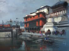 Pashupati Express | Painting by artist Bijay Biswaal | acrylic | Canvas