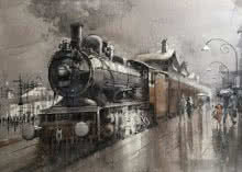 Wet Platform 11 | Painting by artist Bijay Biswaal | watercolor | Paper