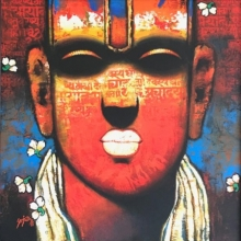 Religious Acrylic Art Painting title 'Untitled 1' by artist Sujata Achrekar
