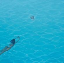 Seascape Oil Art Painting title Water Series 1 by artist Dushyant Patel