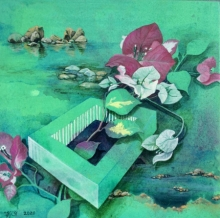 Nature Acrylic Art Painting title 'Claiming Her Space' by artist Sweta Chandra
