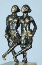 Bronze Sculpture titled 'Village Dance' by artist Kishor Sharma