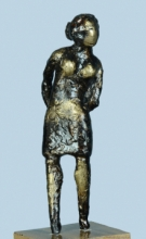 Bronze Sculpture titled 'Village Girl' by artist Kishor Sharma
