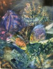 contemporary Acrylic Art Painting title Preserve the ocean by artist Priya Yabaluri