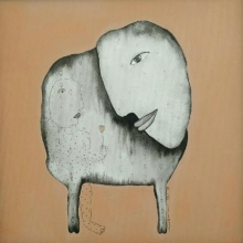 contemporary Acrylic Art Painting title 'Untitled 1' by artist Taslim Jamal