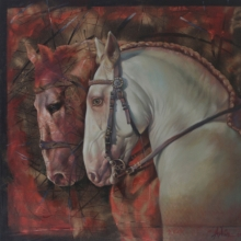 Animals Oil Art Painting title The Aesthetic Of Energy 2 by artist Ashis Mondal