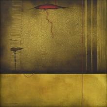 contemporary Acrylic Art Painting title 'Conversation' by artist Nirmal Yadav