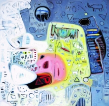 Abstract Acrylic Art Painting title Untitled 10 by artist Rajesh Kumar Singh