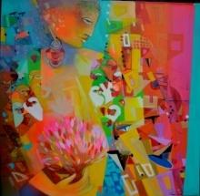 Bodh Tree | Painting by artist Madan Lal | acrylic | Canvas