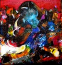 Bull 2 | Painting by artist Madan Lal | acrylic | Canvas