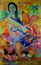 Radha | Painting by artist Madan Lal | acrylic | Canvas