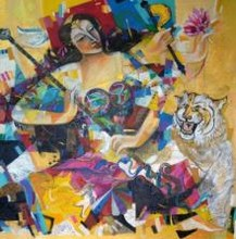 The Goddess | Painting by artist Madan Lal | acrylic | Canvas