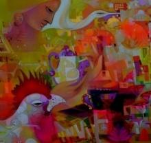 Urban Emotion 2 | Painting by artist Madan Lal | acrylic | Canvas