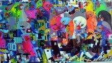 Urban Noise 14 | Painting by artist Madan Lal | acrylic | Canvas