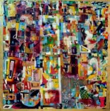 Urban Phulkari 2 | Painting by artist Madan Lal | acrylic | Canvas