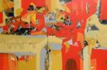 Abstract Acrylic Art Painting title Untitled 1 by artist Satendra Mhatre
