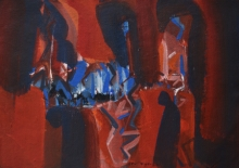Abstract Acrylic Art Painting title Untitled 16 by artist Satendra Mhatre