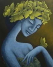 Figurative Acrylic Art Painting title Aafreen by artist Uttam Bhattacharya