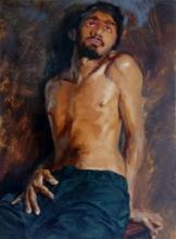 Figurative Oil Art Painting title 'Give Me Some Sunshine' by artist Avishkar Vispute