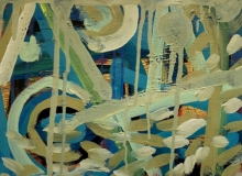 Abstract Mixed-media Art Painting title Untitled 5 by artist Heena Shaikh