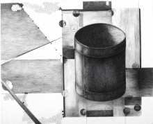 Still-life Pen-ink Art Drawing title Once Upon The Time There Is 2 by artist Satish Multhalli