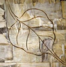 Leafy Wood III | Painting by artist Somen Debnath | other | wood