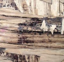 Somen Debnath | Mixed-media Painting title Wood Texture III on wood | Artist Somen Debnath Gallery | ArtZolo.com