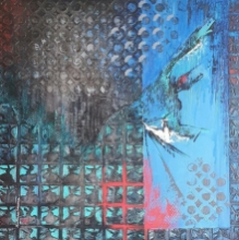 contemporary Mixed-media Art Painting title 'Aafaaq' by artist Radhika Seksaria