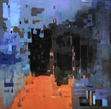 Abstract Acrylic Art Painting title 'Untitled 7' by artist Vikas Malhara